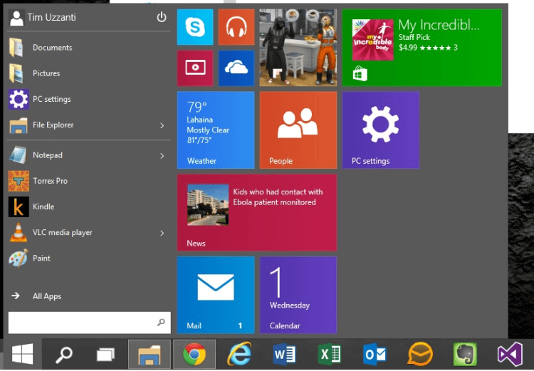how to put search in windows 10 start menu