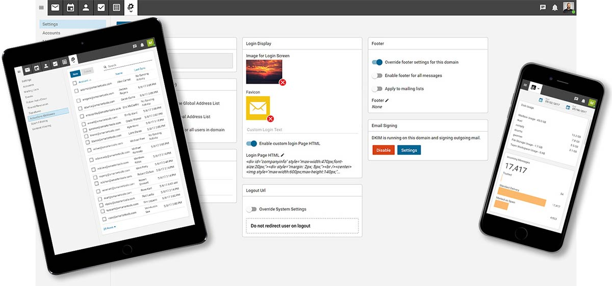 SmarterMail responsive web interface
