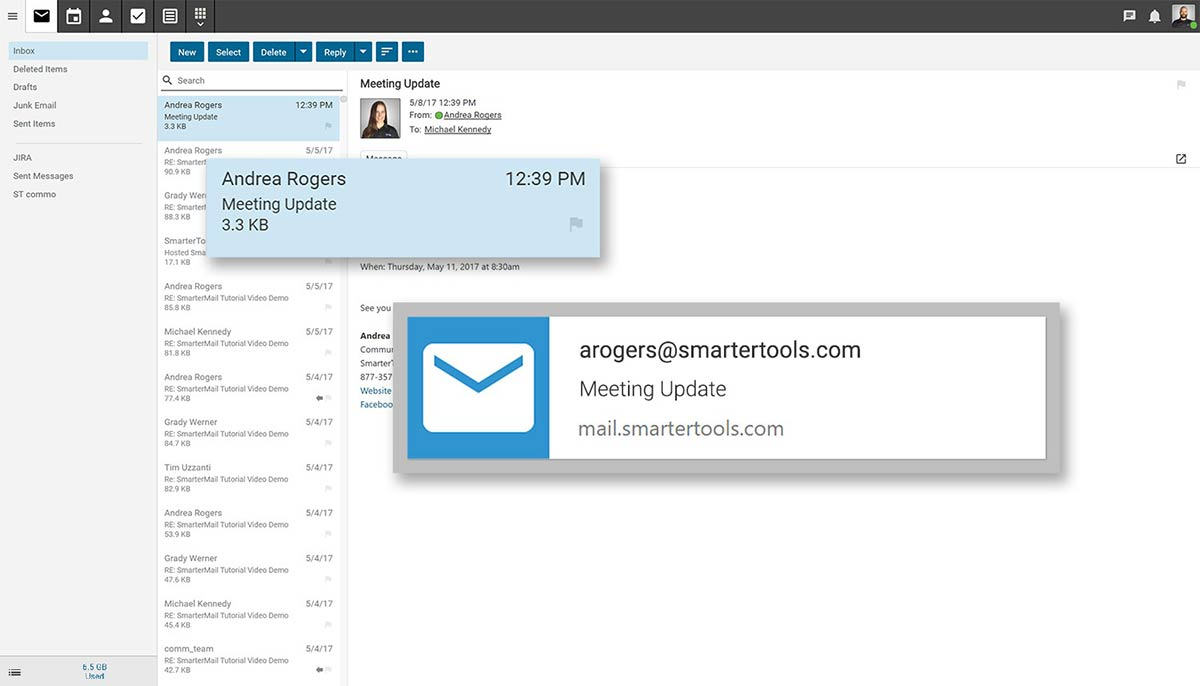 SmarterMail convenient browser notifications
