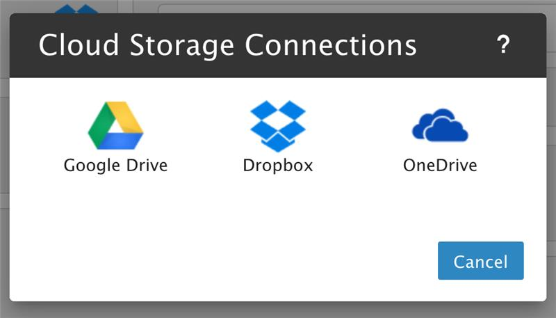 Smartermail Cloud Storage Connection Options