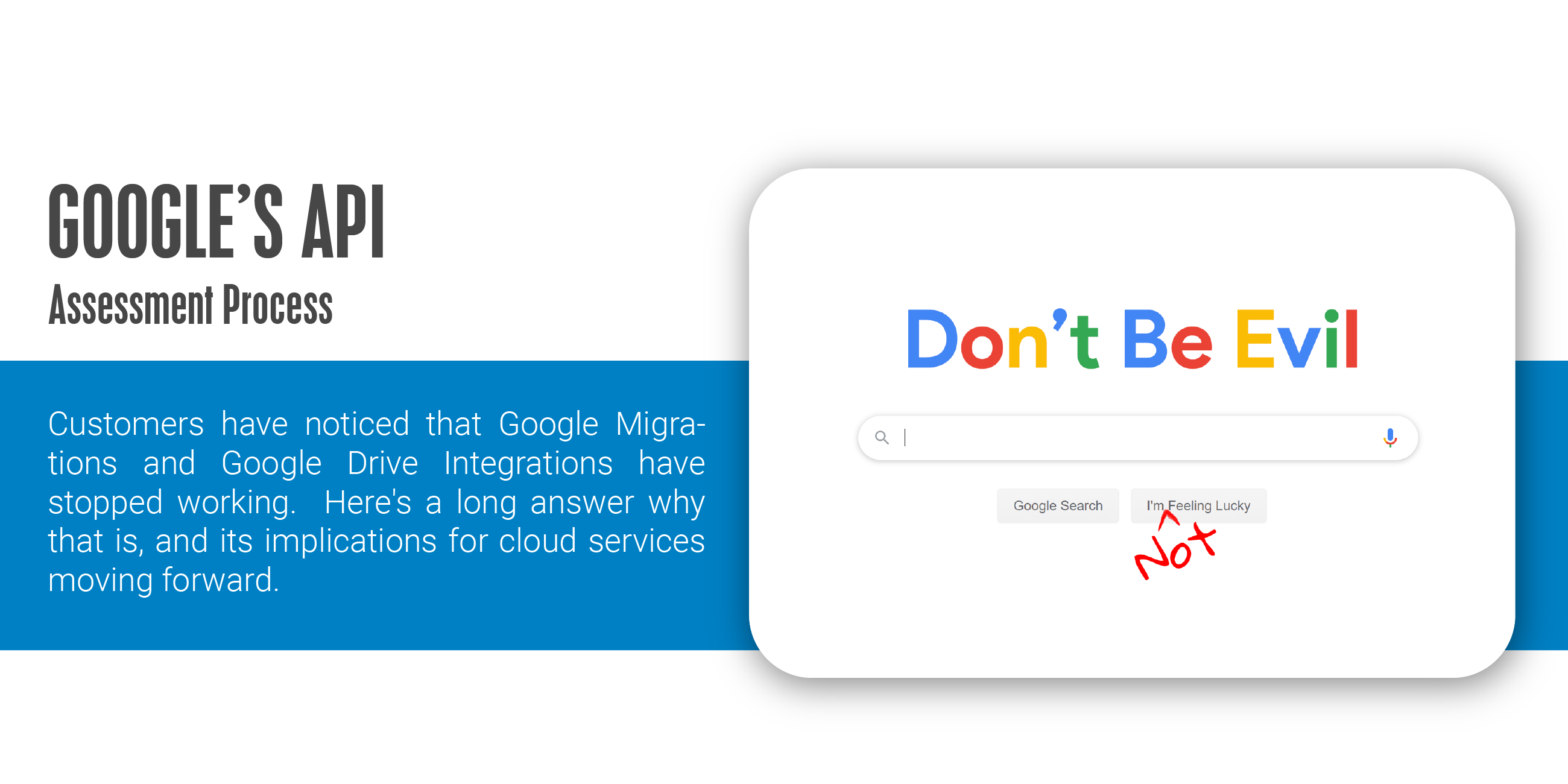 Google and their Don't Be Evil mantra is a thing of the past.